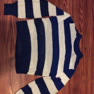 Rag and Bone blue+white sweater